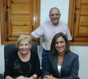 La Diputada Provincial Yolanda Ramírez es recibida por la Alcaldesa de San Andrés del Congosto Concepción Trujillo.