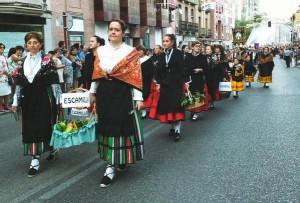 Alcarreñas en procesión