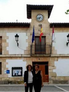 Orlena de Miguel y María Luz Prieto, concejalas de Ciudadanos (C's) en Torrejón del Rey