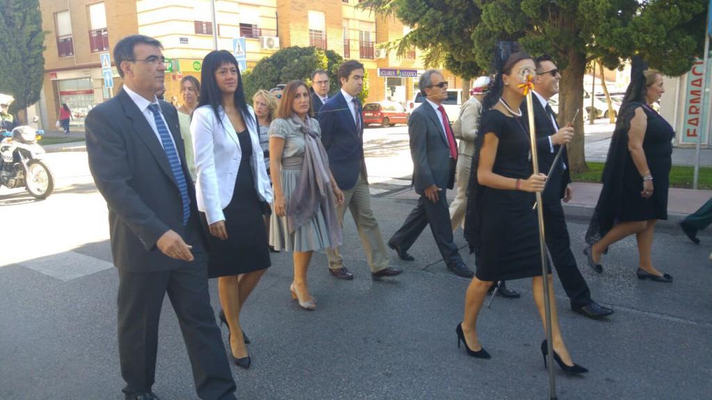 Concejales y Diputada de C's en la procesión de la Virgen de la Soledad.