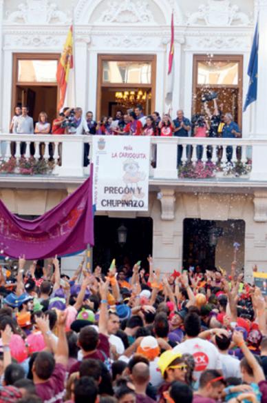 Pregón Oficial a cargo de la peña La Carioquita en las Ferias y Fiestas del año 2014
