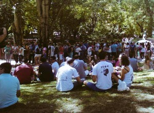 Parque de San Roque durante la Paella Solidaria