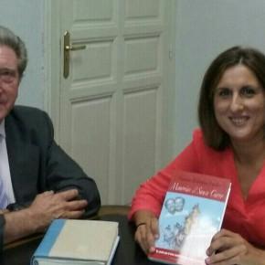 La Diputada de Ciudadanos (C's), Yolanda Ramírez, recibe en la Diputación Provincial al Alcalde de Sacecorbo