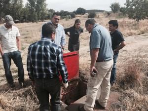 Visita del estado del proyecto de ubicación de la nueva fuente de Valdeaveruelo.