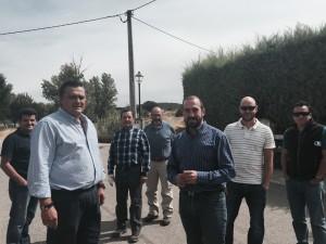Alberto Cortés, Alcalde de Valdaveruelo, junto a Antonio De Lamo, Concejal de C's en el Ayuntamiento, acompañados de representantes de la CHT.