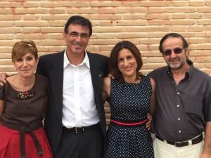 De izq. a dcha., los Concejales de C's El Casar-Mesones: Asunción López, Juan Gordillo, Yolanda Ramírez y Carlos Hernández.