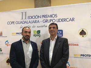 Antonio De Lamo y Juan Gordillo, miembros del equipo del Grupo Ciudadanos en la Diputación de Guadalajara.