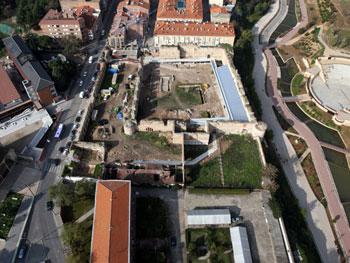 Vista aérea del Alcázar de Guadalajara