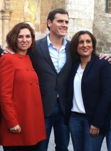 Orlena de Miguel, Albert Rivera y Yolanda Ramírez