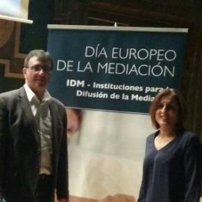 Juan Gordillo, Subdelegado Territorial de C's Guadalajara y la Diputada Provincial Yolanda Ramírez asisten a los actos del Día Europeo de la Mediación