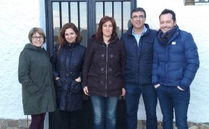 De izq. a dcha.: Itziar Asenjo, Orlena de Miguel, Almudena Sanz, Juan Gordillo y David Espinosa