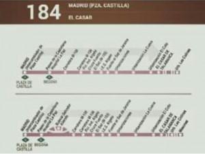Ampliación del servicio de la línea 184.