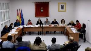 Sesión plenaria del Ayuntamiento de Galápagos
