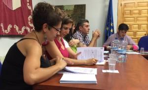 Concejales de C's Torrejón del Rey durante el pasado Pleno.
