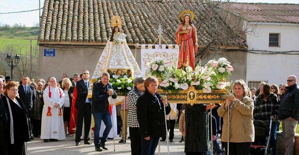 Festividad de Santa Águeda en Galápagos.