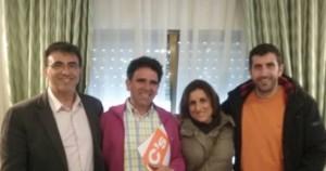 De izq. a dcha.: Juan Gordillo, Germán Sánchez, Yolanda Ramírez y Carlos Morales.