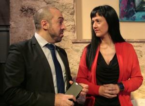 Antonio de Lamo y Silvia García, Portavoces de C's Valdeaveruelo y Azuqueca, respectivamente.