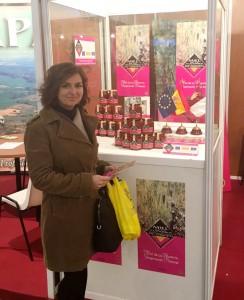 Orlena de Miguel, en la exposición de la XXXV Feria Apícola Internacional.
