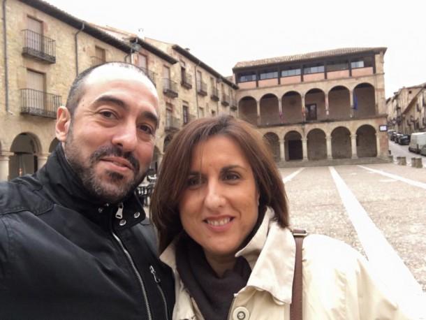 Yolanda Ramírez, junto a Antonio de Lamo durante la visita.