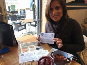 Yolanda Ramírez, durante las I Jornadas de la cocina seguntina.