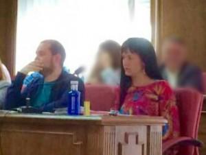 El Grupo Municipal C's Azuqueca durante el Pleno Ordinario de abril.