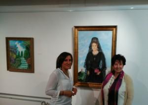La Diputada Provincial Yolanda Ramírez junto a la pintora Manuela Pastor.