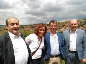 Yolanda Ramírez, a su llegada a Alcolea de las Peñas.