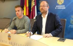Ángel Bachiller y Alejandro Ruiz, Concejales de C's Guadalajara.