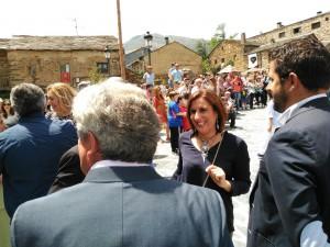 Yolanda Ramírez en su visita a Valverde de los Arroyos