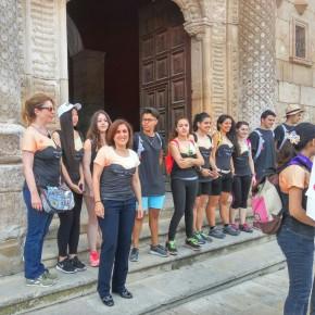 Yolanda Ramírez participa en el 'Viaje a la Alcarria' a su paso por el Palacio del Infantado