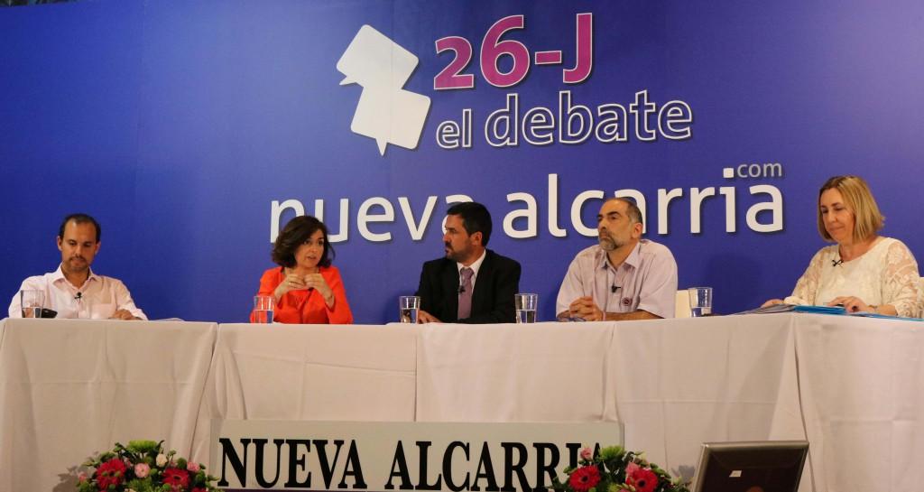 Mesa del debate organizado por Nueva Alcarria