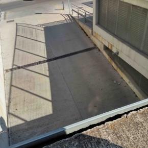 Entrada a aparcamiento, vista desde cubierta