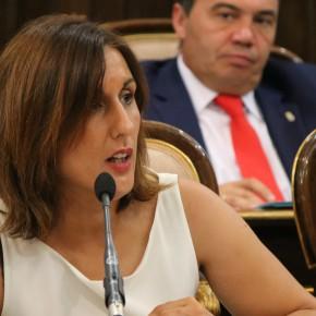 Yolanda Ramírez en la sesión plenaria de este viernes