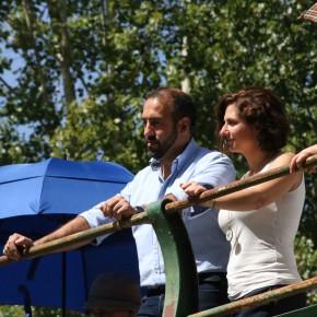 Antonio de Lamo y Orlena de Miguel durante la fiesta Ganchera de este año