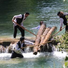 Recreación del oficio de ganchero, oficio tradicional de la zona del Alto Tajo