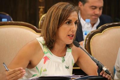 Yolanda Ramírez durante la sesión plenaria