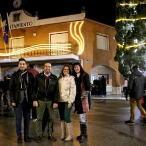Ciudadanos Azuqueca asiste a la inauguración del alumbrado navideño