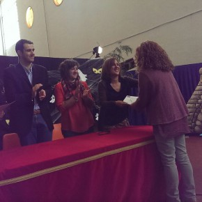 """Representantes de C's en El Casar-Mesones acuden a la Clausura del Taller de Empleo """"Decoracion para escenografía"""""""