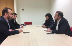 18.01.2017 Antonio De Lamo y Silvia García reunión con GUADAPAMAS