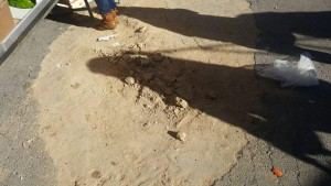 02.02.2017 estado de la calzada en avd Alcalá