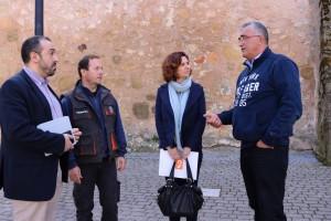 09.03.2017 Orlena De Miguel y Antonio De Lamo con miembros de la plataforma No al Trasvase