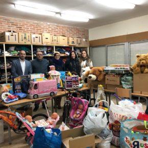 Cs Guadalajara entrega a San Vicente de Paul los juguetes recogidos como resultado de su campaña solidaria llevada a cabo en varios municipios de la provincia