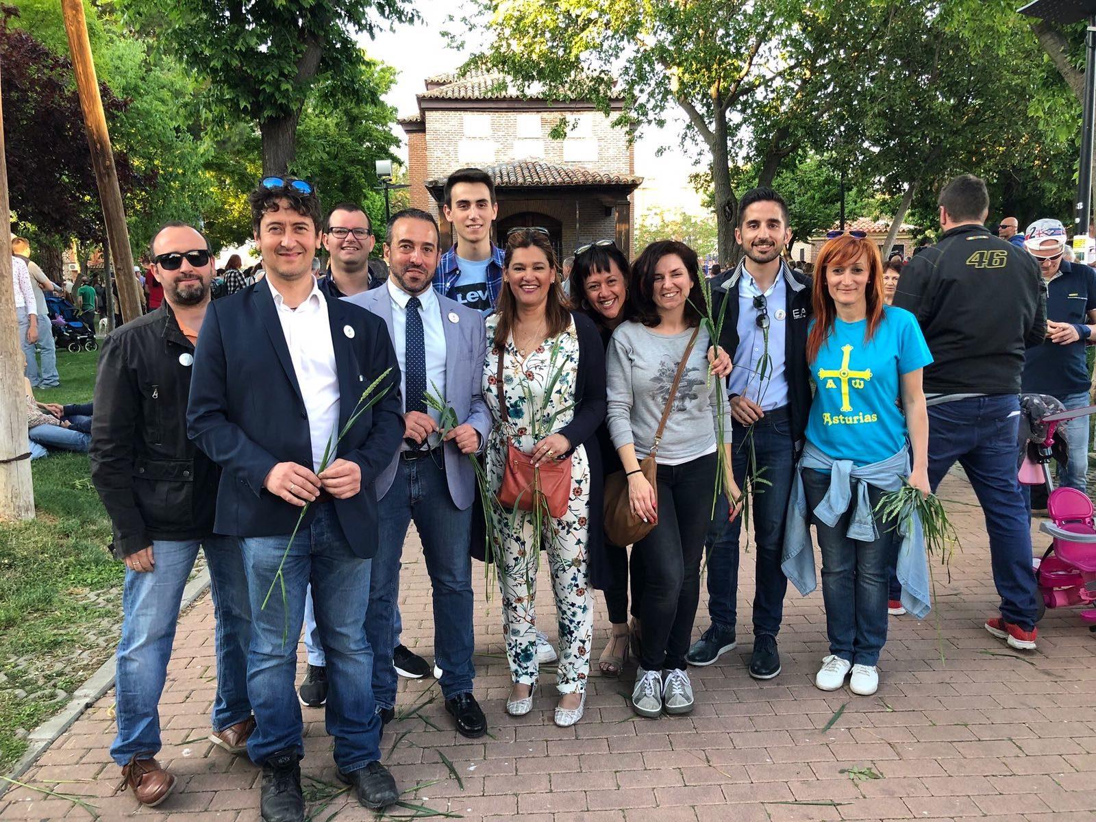 Orlena de Miguel, Antonio De Lamo y Silvia García asisten a la celebración de la Fiesta de la Espiga 2018 en Azuqueca