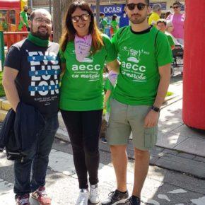 Silvia García, José Luis González y Aitor Varela asisten a la II Marcha contra el Cáncer