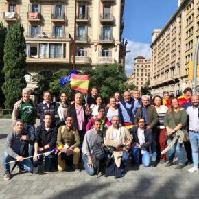 Ruiz asiste a la concentración de Cs en Barcelona