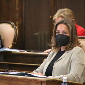 """Olga Villanueva: """"Mientras Sánchez sube la presión fiscal a los autónomos, en la Diputación de Guadalajara, les ayudamos con dos líneas dotadas de 600.000 €"""""""